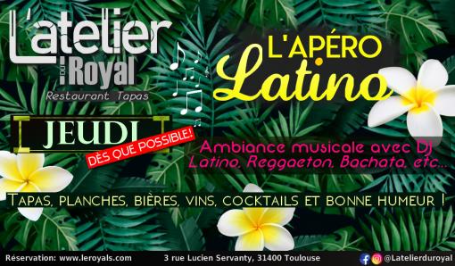 Afterwork latino jeudi 2021 L'atelier du Royal