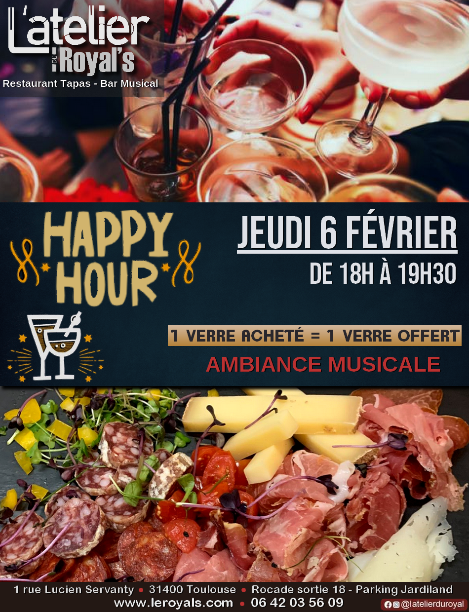 Happy Hour à L'atelier du Royal
