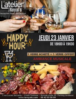 Jeudi 23 Janvier: Happy Hours à l'atelier du Royal