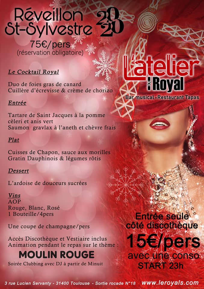 Latelier du royal 2020 Menu