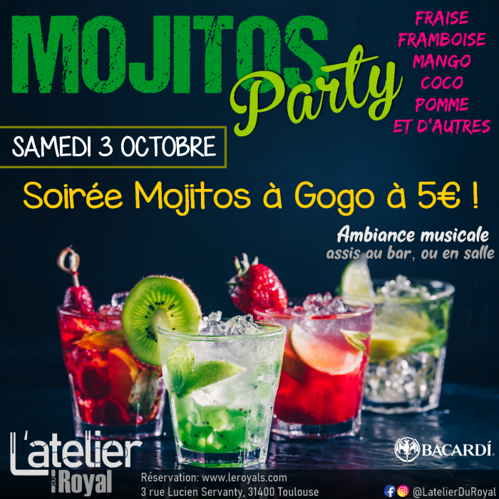 Mojitos party 3 oct. @ L'atelier du Royal